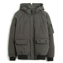 Pioneer Camp nowa męska kurtka zimowa marka odzież moda gruby ciepły płaszcz męski top quality parka mężczyźni czarny zielony AMF801453