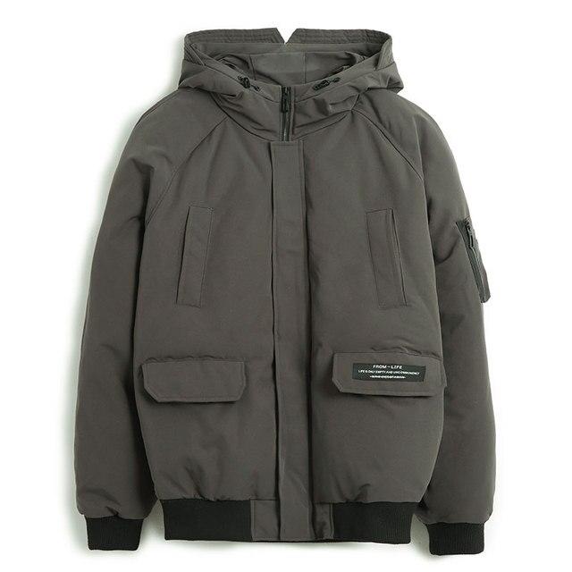 Pioneer camp novos homens jaqueta de inverno marca roupas moda grosso quente casaco masculino de alta qualidade parka masculino preto verde amf801453