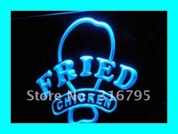I193 ABERTO Fried Chicken Fast Food Loja NOVA Luz Sign On/Off Switch 20 + Cores 5 Tamanhos