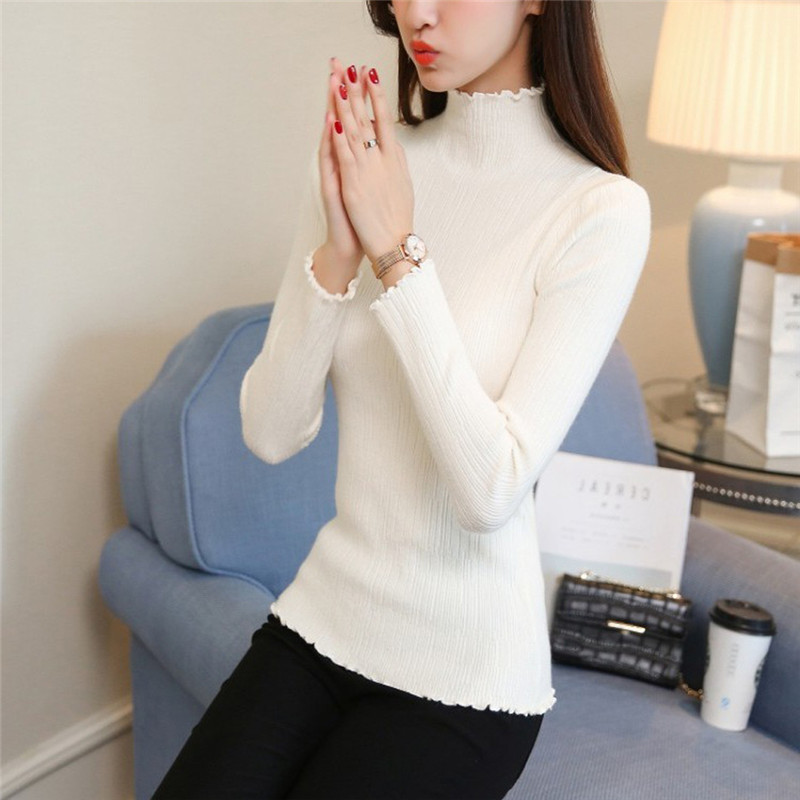 Long Sleeve Turtleneck Bottoming Sweaters Women Solid Basic Pullovers Slim Fit Knitwear 2018 Women Sweater Winter Knitted