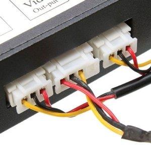 Image 5 - Commutateur vidéo pour système de caméra détecteur de stationnement de voiture avant et arrière avec câble vidéo 6M comprend un câble dalimentation manuel de lutilisateur