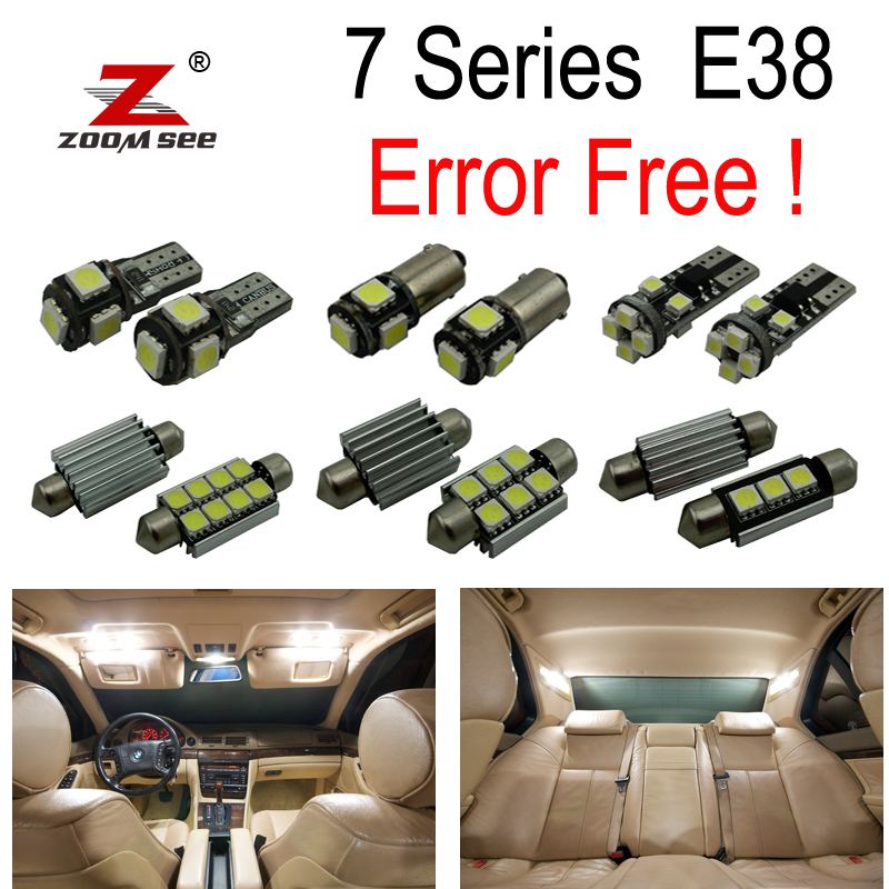 21x LED License Plate lamp + Interior Light Kit for bmw 7 Series E38 Saloon 730i 730iL 735i 735iL 740i 740iL 750i 750iL (94 01)