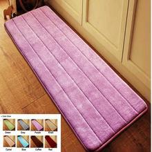Antideslizante baño de terciopelo felpudo absorbente alfombra de baño de espuma de memoria lenta recuperación baño microfibra floor carpet rug 40*120 cm