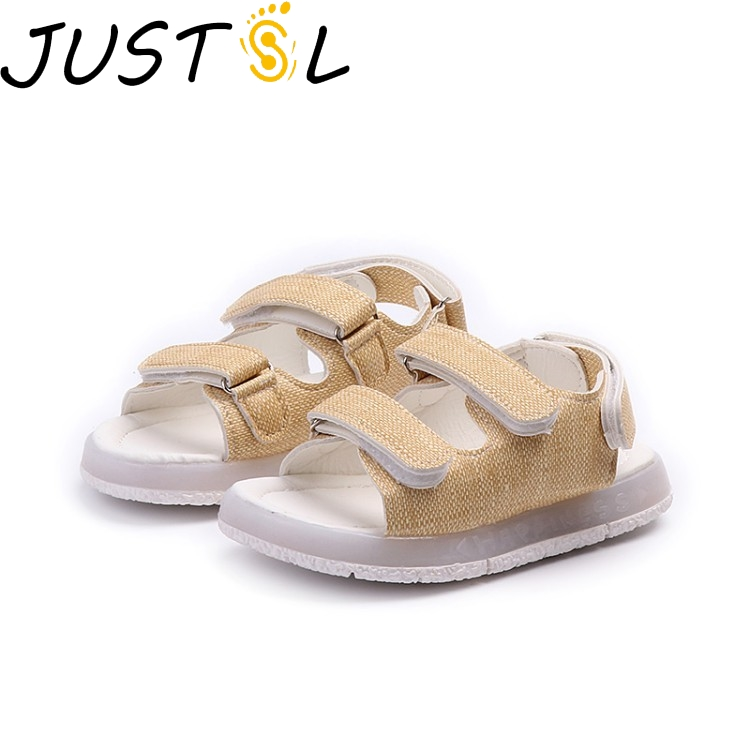 JUSTSL 2018 Summer Kids Lights Sandals Girls Boys Childrens shoes Chidlren Glowing Casual Cool Beach Sandals