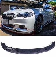 for F10 HM styling carbon fiber bumper front lip spoiler for BMW F10 M sport M tech bumper 2012 UP