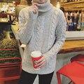 Siriusha Большой чистая зима утолщение смешивания пряжи тепловой мужской свитер тенденция Чистого ручное ткачество