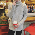 Siriusha Big net winter thickening blending yarn thermal male turtleneck sweater trend Pure hand weaving