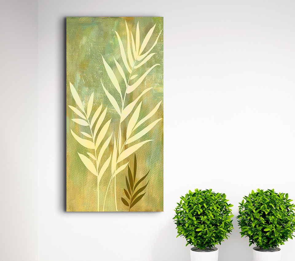 Modern Canvas Print Painting Golden Grass in the Wind Wall Art ...