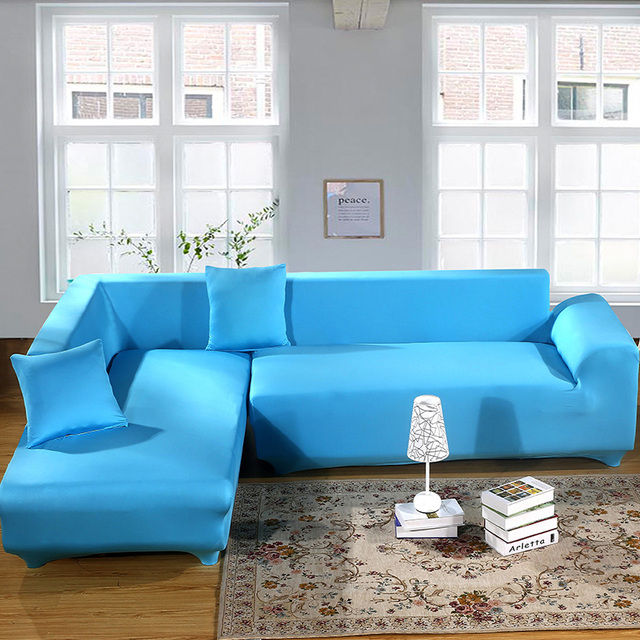 2 Pieces Covers For Corner Sofa L Shaped Couch Living Room Sectional