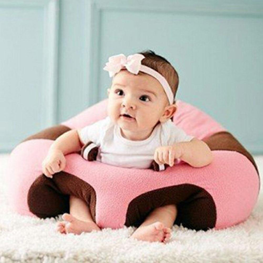 Portable Infants Learn Sit Safety Chair Babies Support Dinner Seat Sofa Doll Toy Support Cotton Feeding Chair