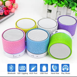 Bluetooth Speakers Wireless LED Mini Portable Soundbar Music Audio TF FM Light Stereo Sound Speaker For Phone Xiaomi With Mic