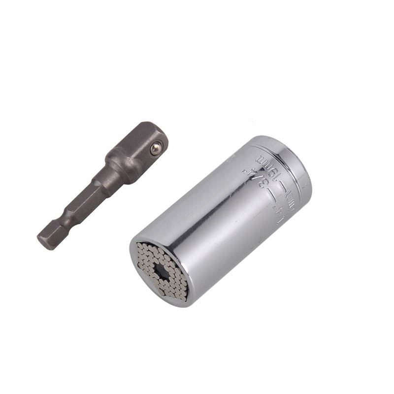 Prix pour 1 conjunto Universal Socket Multi - fonction une main Tool Set auto moto réparation Kit serrurier clé tournevis adaptateur Multitool