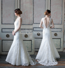 Open Back Lace Sweetheart Trumpet Mermaid Wedding Dresses Sheer Applique 2015 New Bridal Gowns yk1A288