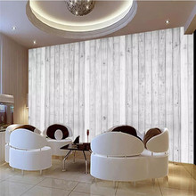 Custom 3d wallpaper HD simple white plank bedroom living room TV background wall painting the custom 3d murals timber wood brown wall plank vintage background living room sofa tv wall bedroom wall paper