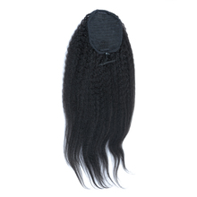 Ponytail Clip In Hair Extensions Kinky Straight Brazilian Human Hair Natural Color Remy Hair Pony Tail Products CARA