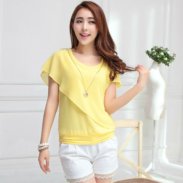 Ladies Fashion Chiffon Blouse Wholesale Desinger T Shirt ,Fashion ...