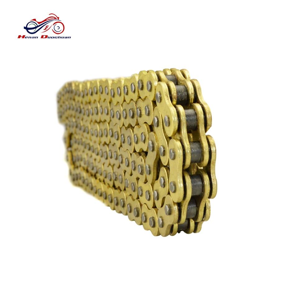 Chaîne 520 moto x-ring huile joint chaîne moto Transmission chaîne pièces de rechange or moto entraînement chaîne # b