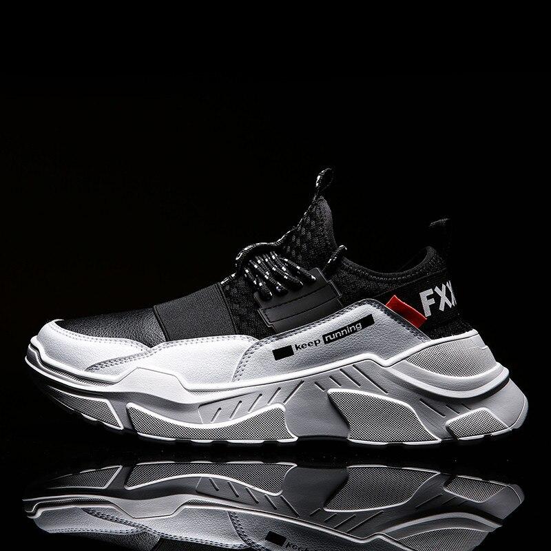 2019 nouvelles baskets à semelle épaisse hommes chaussures de Sport de marche en plein air chaussures de course légères pour hommes krasovki baskets de Sport