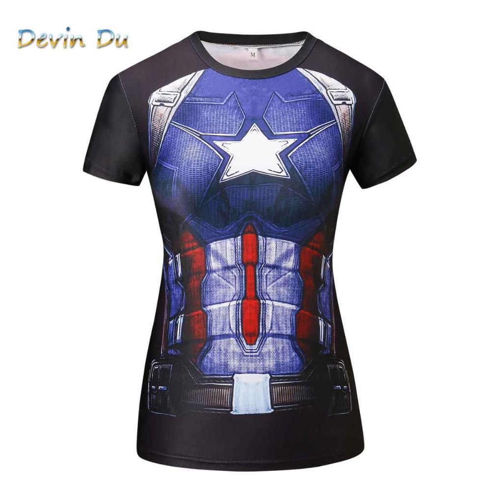 aea53a76 Compression T Shirt Superhero Women batman /Captain America/t Shirts  Fitness T-shirts