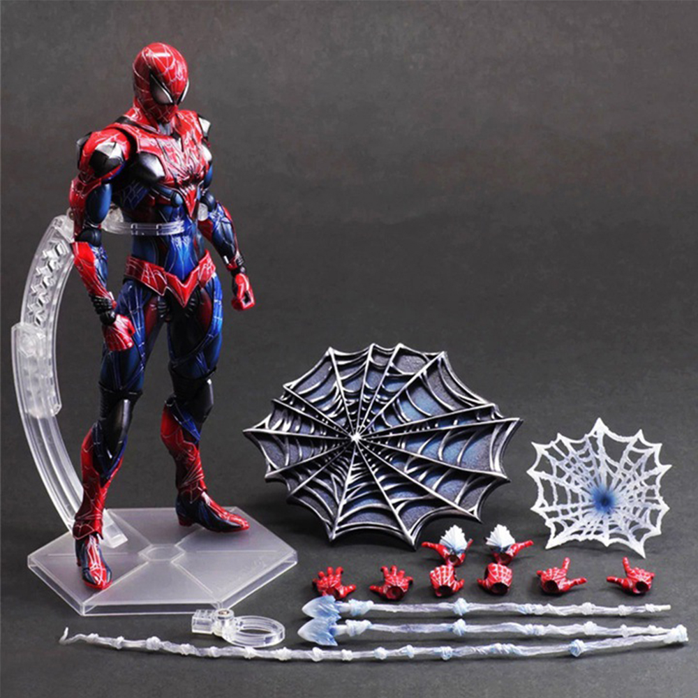 Action Figure Toy 28cm PVC Enix Variant Play Joint movement Arts Spiderman Spider-man PVC Action Figure Collectible Model Toy the amazing spider man venom cletus kasady carnage pvc action figure toy spiderman villain venom collectible model toy gift n038