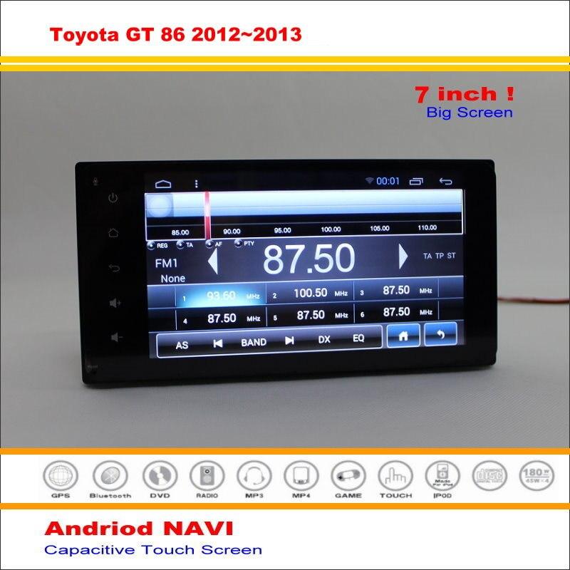 Android Sistema de Navegación GPS del coche Para Toyota GT 86/FT86/Subaru BR/Sci