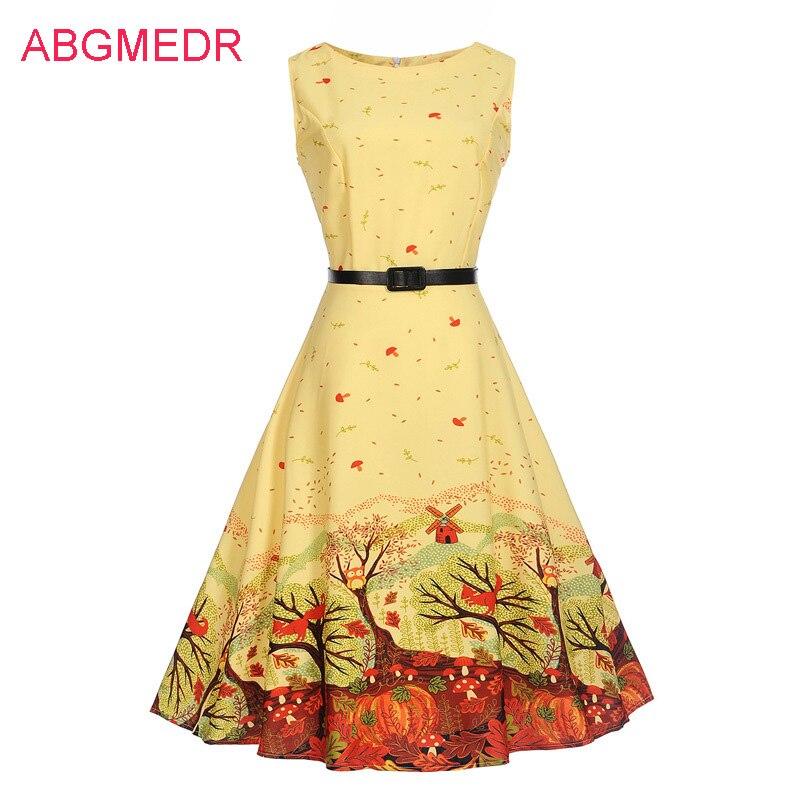 2017 Autumn European and American Retro Print dress Mother Daughter Dresses Teenagers Clothing Monsoon Girls Dress Mae e Filha