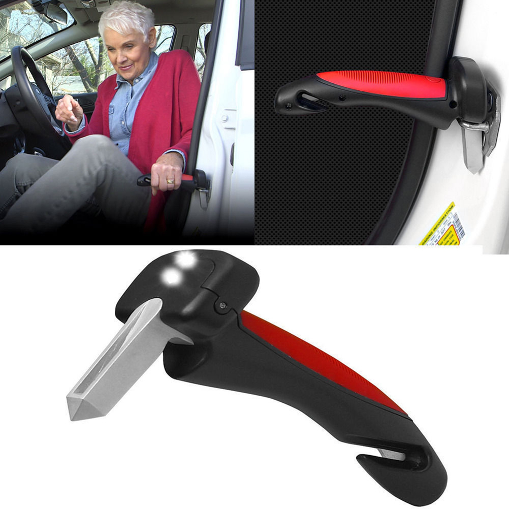 Mini Car Safety Hammer Seat Belt Cutter Window Glass Breaker Car Rescue Tool Life Saving Escape Emergency Hammer New
