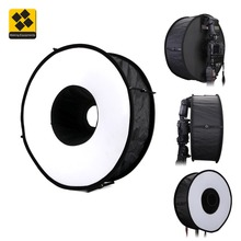 कैमरा के लिए स्पीडलाइट फ्लैश 45 सेमी फोल्ड करने योग्य फ्लैश सॉफ्ट बॉक्स के लिए रिंग सॉफ़्टबॉक्स