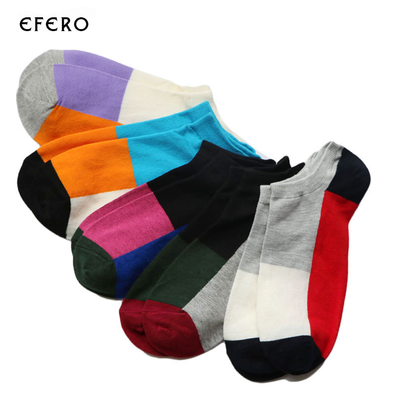 1Pair Casual Summer Men's Socks Art Colorful Low Cut Socks Ankle Male Short Socks For Men Calcetines Hombre Chausettes Homme