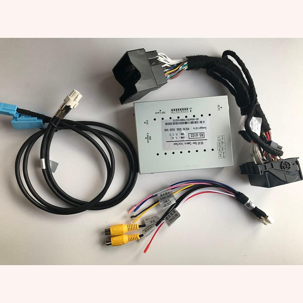 Insersor de vídeo Back-up Da Câmera Interface para VOLVO Carplay Fábrica Media Screen Sensus Conectar