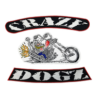 CRAZY DOGZ Iron On PATCH Creative And Delicate Vest Patch Funk Rider Biker Jacket Iron Patches For Clothing Stickers On Clothes