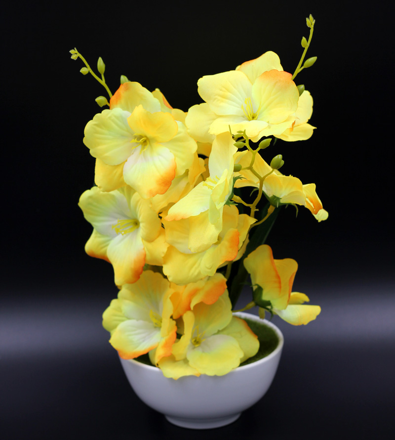 Captivating Simulation Plastic Flowers Crafts Ceramic Plate Indoor Decoration Bonsai  Festival Home Decoration Flowers In Artificial U0026 Dried Flowers From Home U0026  Garden ...