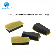 OkeyTech 5pcs/lot T5 ID20 Chip with Circuit Board (TP05) 20 T5 Ceramic Car Key Transponder Chip for Locksmith Tool Free Shipping