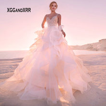 XGGandXRR Ball Gown Wedding Dresses 2019 Sleeveless