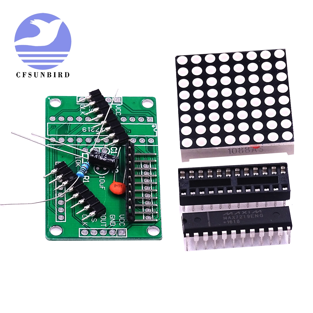 MAX7219 LED 8x8 Dot Matrix Display Module MCU control for Arduino DIY
