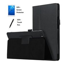 2 Fold Litchi Tablet Case for Huawei MediaPad M3 8.4 inch BTV-W09 BTV-DL09 Tablet Case Flip Stand Cover Case(China)