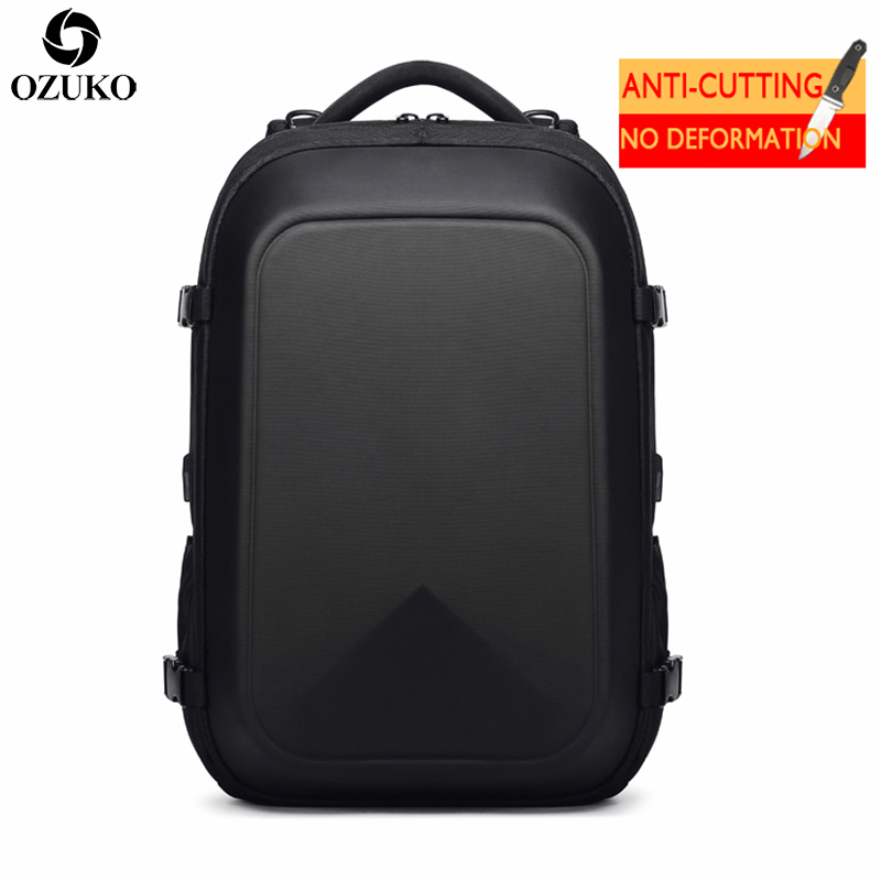 2019 New OZUKO Men s Backpacks Business Multifunctional USB Charging Laptop Backpack Bolsa Mochila Waterproof Travel