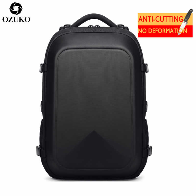 2019 New OZUKO Men s Backpacks Business Multifunctional USB Charging Laptop  Backpack Bolsa Mochila Waterproof Travel School faa1587eb6647