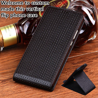 JC09 Genuine Leather Flip Case For Huawei P Smart Vertical Phone Cases For Huawei Enjoy 7S Flip Vertical Back Cover