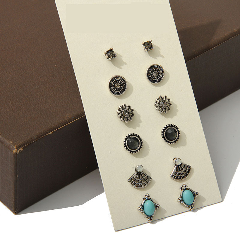 Hot selling Cute Earring Sets Super Value 6 Pairs Set ...