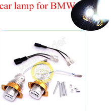 10W Angel Eye Lights No Error LED Marker Halo Ring Lamps White  1Pair For E90 E91 3 Series FREE SHIPPING