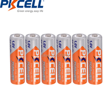 6PCS PKCELL 2500mWh 1.6V Ni Zn AA Rechargeable Battery Batteries