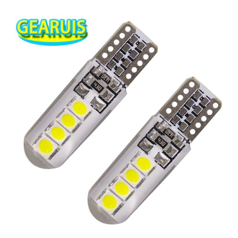 100Pcs T10 Silicone Shell 8 SMD 3030 LED Car bulb W5W 192 168 Silica gel Signal