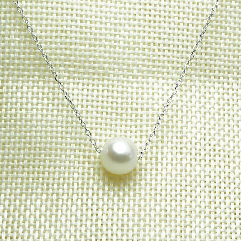 Beste verkauf mode weiß Elegante temperament einzigen Perle Anhänger kurzen choker Halsketten Schmuck, weiß perle colliers halskette