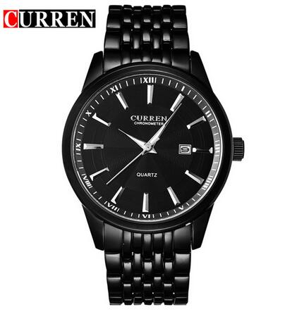 2019 <font><b>Curren</b></font> Luxury Brand Men's Luxury Black Stainless Steel Analog Quartz Watch Men New Fashion Sport Wristwatch Male Clock <font><b>8052</b></font> image