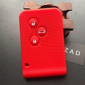 Image 5 - ZAD gumy silikonowej samochód karta klucz skrzynki pokrywa dla Renault Clio Megane Grand Scenic 3 przycisk obudowa kluczyka do samochodu przypadku powłoki