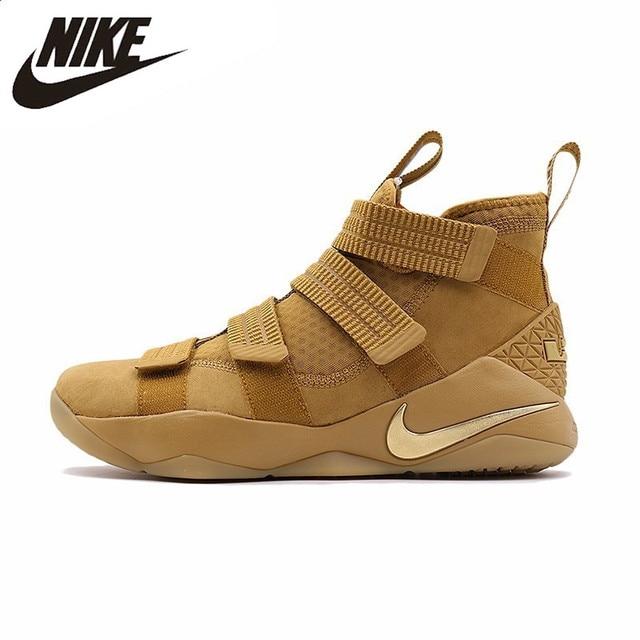 NIKE Original New Arrival Mens Basketball Sneakers LeBron Soldier Breathable Footwear Super Light Outdoor For Men 897647-700