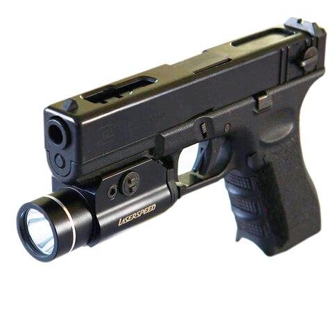 led luz caca arma lanterna para glock g17 18c 19 22 25 26