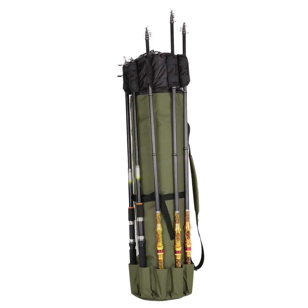 Темно-зеленая Рыболовная Сумка Складная удочка Катушка Перевозчик приманок чехол полюс мешок для хранения 5 стержней катушки мешок для ловли карпа