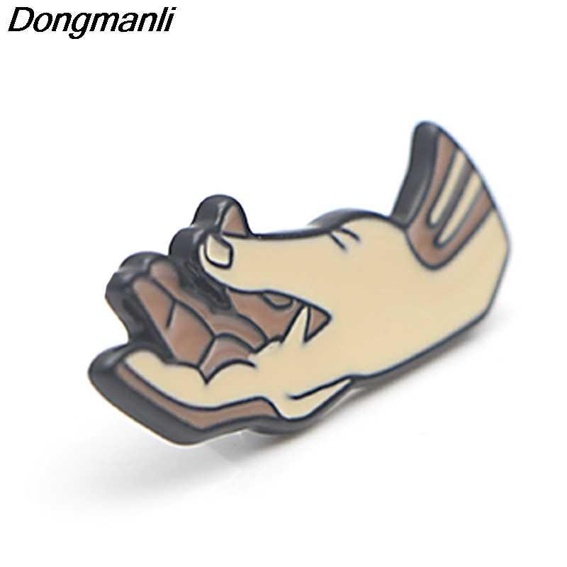 P3799 Dongmanli Dello Smalto di Modo Spille Collezione La Creazione di Adamo Spille per Le Donne Risvolto Spilli Zaino Distintivo Del Collare Dei Monili